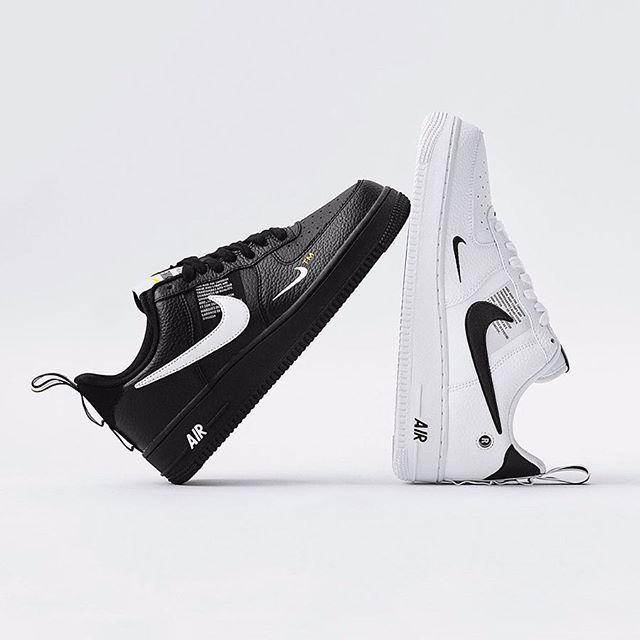 Nike Air Force 1 07 Lv8 Utility Black And White Nike Airforce