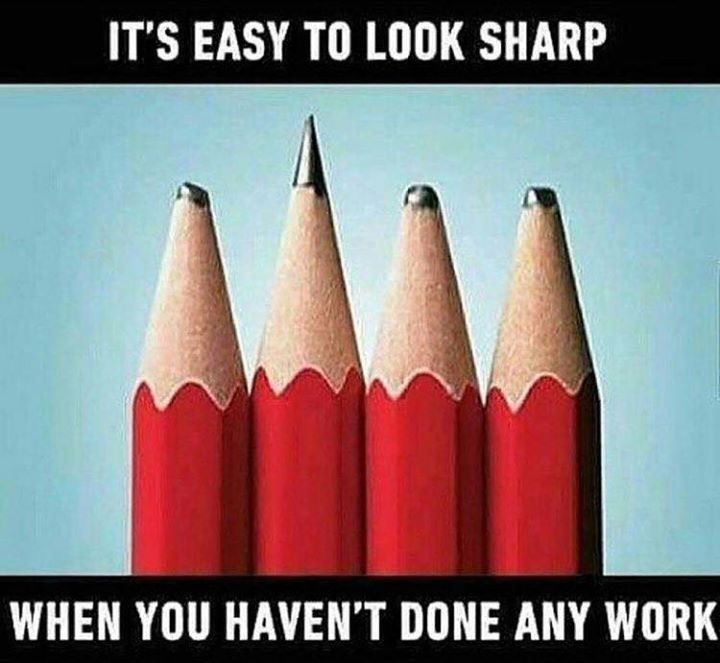 Its easy to look sharp..