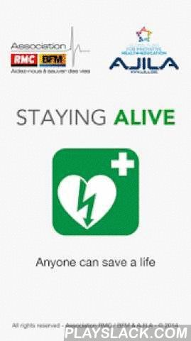 Staying Alive  Android App - playslack.com ,  Staying Alive provides defibrillator mapping. The App is available in 13 languages and maps over 65.000 defibrillators worldwide.Staying Alive is an award winning free App designed and developed by AEDMAP.Main features include:- AED location : locate an AED close to you or in a specific address, through the use of an embedded database that is updated each time you launch the application.- Reporting of new AED.You can post new defibrillators even…