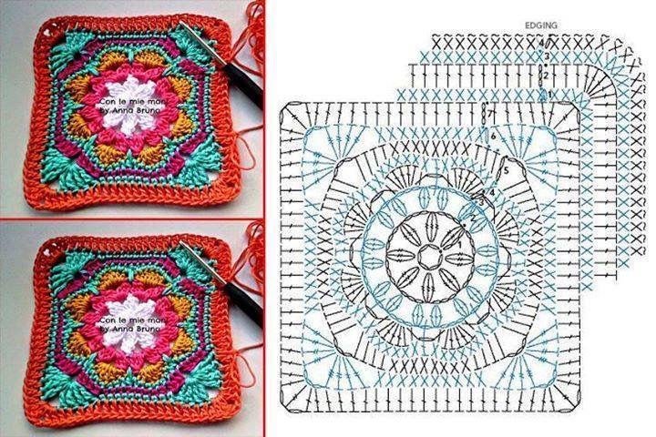 Las mejores 98 imágenes de Crochet flores y mandalas en Pinterest ...
