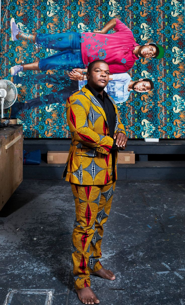 wiley guys The painter kehinde wiley, the subject of a coming brooklyn museum retrospective, is known for vibrant, photo-based portraits of young black men in poses culled from art history.