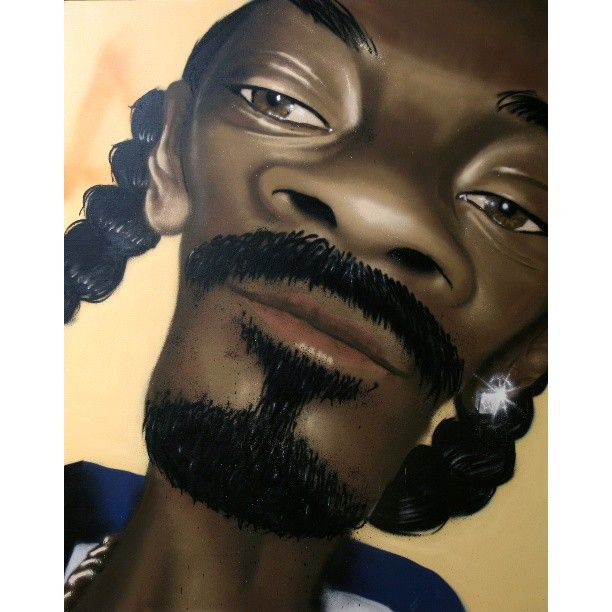 Tha Doggfather. #caricature of #snoopdogg. All can on canvas. No stencils, no brushes.
