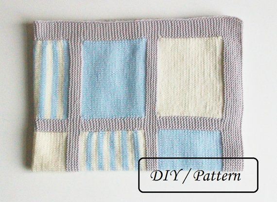 Do knit Yourself! Colorful baby blanket Noah pattern for those who would like to knit a baby blanket by themselves ! Made by you and with love - it will be a perfect gift to your friends baby !  ♥ This listing is an INSTANT DOWNLOAD pattern (PDF is a 3 pages download file with the written instructions).  ♥ This pattern is written in standard US terms (in English)  ♥ This blanket is knitted from 100 % Merino wool, however, any style of yarn will work to create this knitting.  ♥ Knitting gauge…