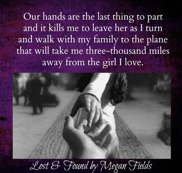 Our hands are the last thing to part and it kills me to leave her... Lost & Found @meganfieldsuk #newrelease