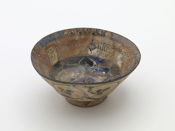 Bowl  Type     Bowl  Historical period(s)     Il-Khanid dynasty, 13th or 14th century  Medium     Glazed clay  Dimension(s)     7.5 x 15.5 cm  Geography     Iran