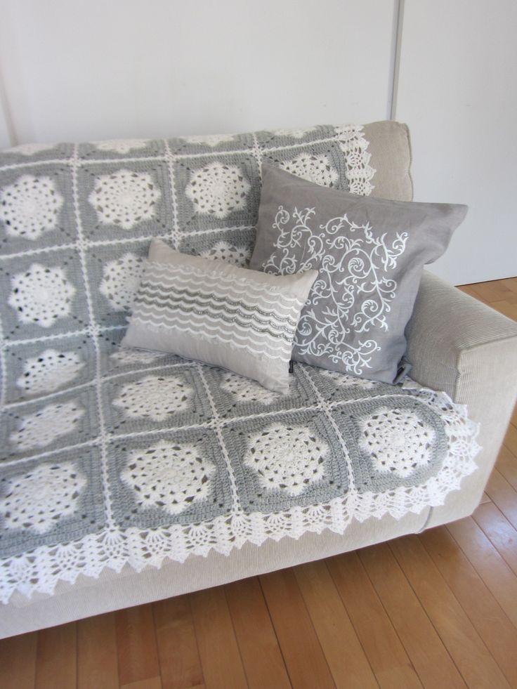 CAL】(33)雪の結晶ブランケット、完成! : Crochet with Ricky c0306734_2222098.jpg