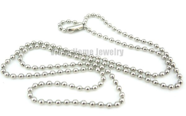Free shipping silver ball chain 14-24 inch  can be choose stainless steel ball chain
