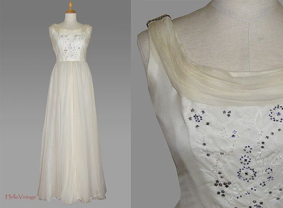 Hey, I found this really awesome Etsy listing at https://www.etsy.com/listing/150804185/silk-vintage-wedding-dress-small-70s