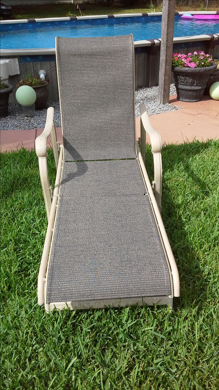 TIP: When Changing Sling Fabric In Outdoor Furniture, Use Silicone Spray.  This Will