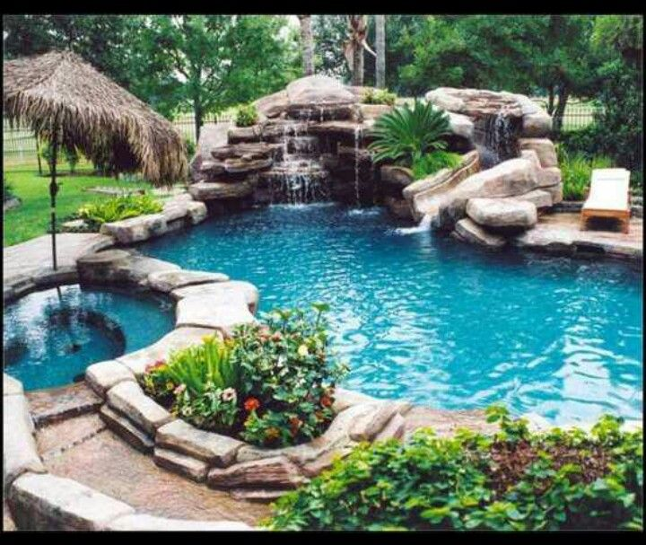 20 unique outdoor swimming pool design ideas inspiring for Pool designs for large backyards