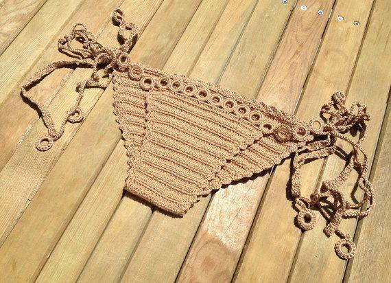 brown bikini bottoms - tie bikini - crochet bikini bottoms - summerwear - beachwear - swimsuit women senoaccessory on Etsy, 25,00$