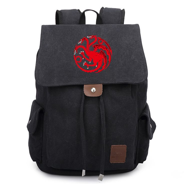 Game of Thrones Canvas Backpack //Price: $59.98 & FREE Shipping //     #housestark #nowmywatchbegins #thenorthremembers