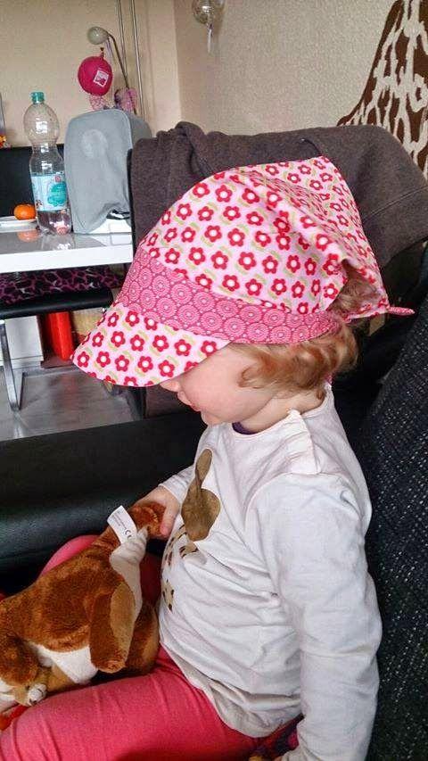 ElAdo ! Alles rund um's Nähen !: Kopftuchmütze Tina zum Binden aus Webware und mit Gummiband aus Jersey ! Mit kostenlosem Schnitt !