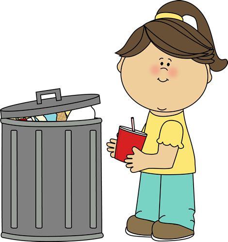 Girl Picking Up Trash Clip Art - Girl Picking Up Trash Image