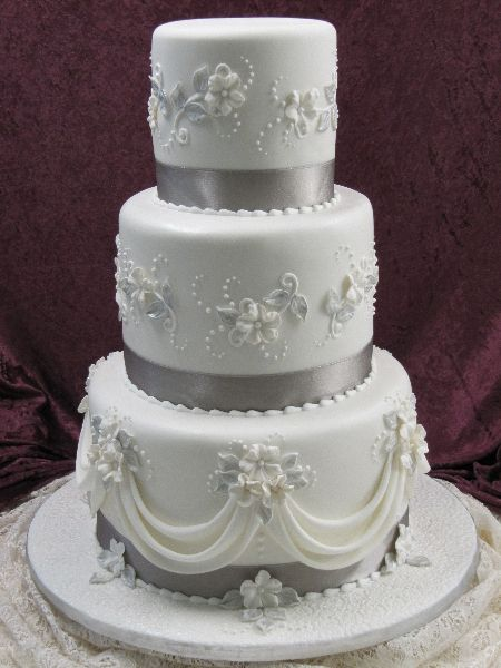 Indian Weddings Inspirations Silver Wedding Cake