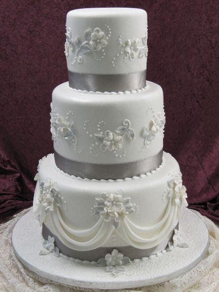 Indian Weddings Inspirations Silver Wedding Cake