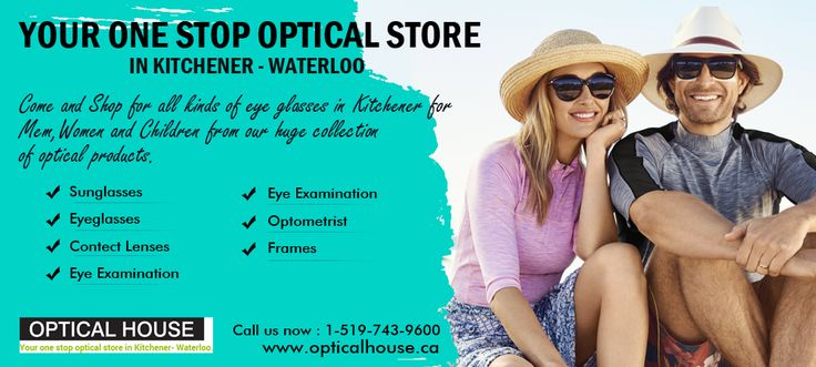 Your one stop #OpticalStore in #Kitchener - #Waterloo for #High_quality #opticalproducts such as #EYEcare #eyeglasses, #Sunglasses, #frames & #contactlenses  Visit our store: 1201 Fischer Hallman Rd, Unit 250, Kitchener, ON N2R 0H3, Canada  Website: http://www.opticalhouse.ca  Phone: 1-519-743-9600