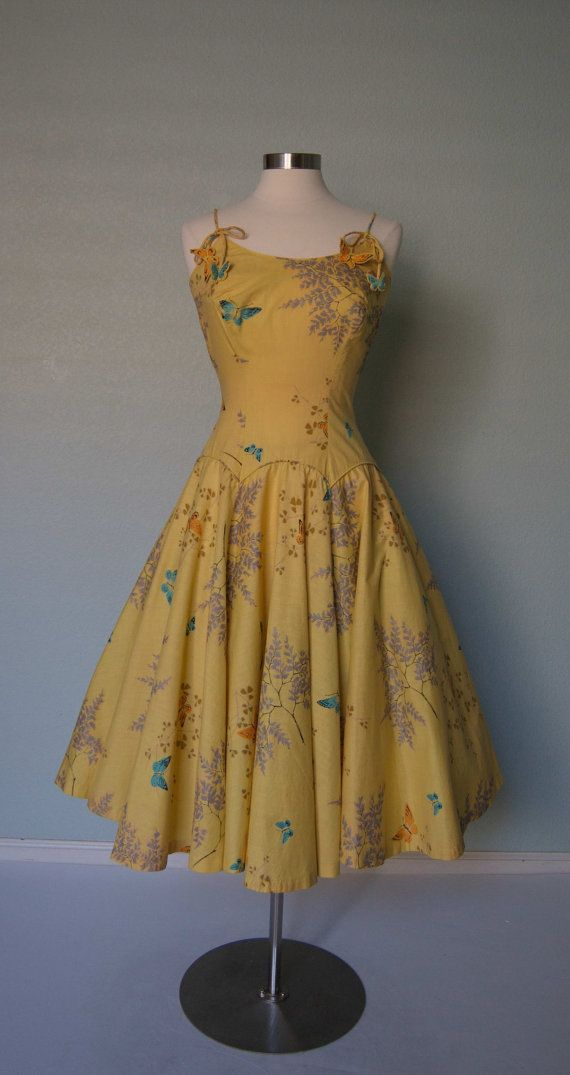 Adorable 1950s Marjae Miami Cotton Novelty by KittyGirlVintage