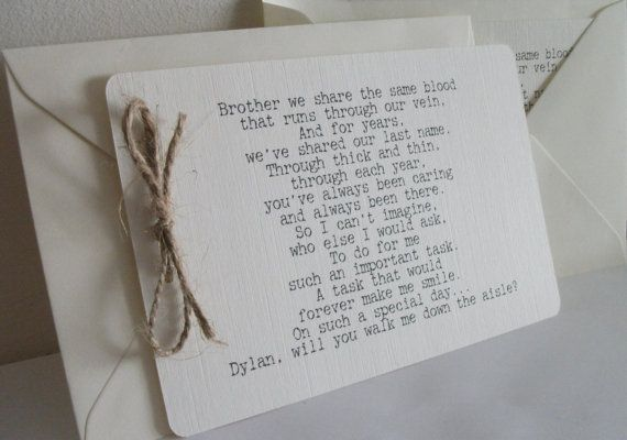 Ivory Linen Will you walk me down the Aisle  by PartyPersonality, £1.95