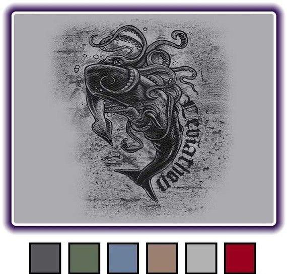 LEVIATHON <b>WHALE</b> - Ocean <b>Squid</b> <b>Battle</b> - <b>Giant</b> Sea Octopus - Tattoo Art ...