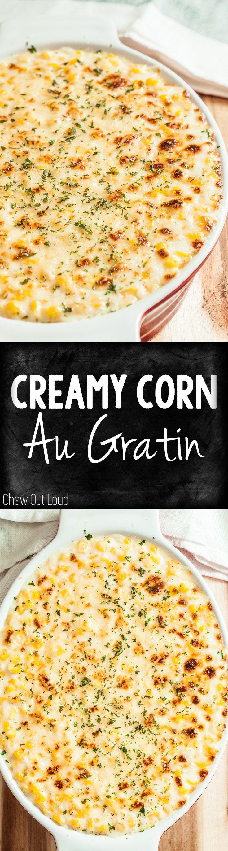 Summit House Restaurant's popular Creamed Corn Au Gratin. So, So Good! #corn #side #holiday