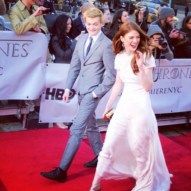 15 Things That Happened at the 'Game of Thrones' Season 4 Premiere - Joffrey and Ygritte arrived together.