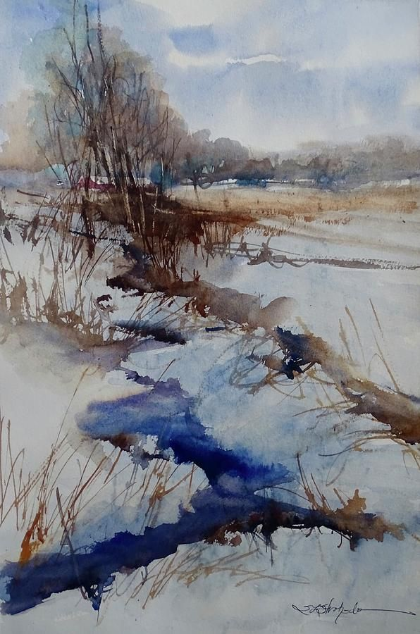 Landscape Painting - A Day Like That by Sandra Strohschein