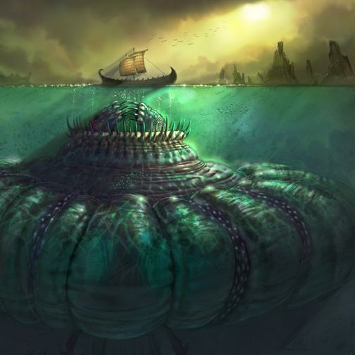 Charybdis- Greek myth: a huge female sea monster. She was the daughter of Poseidon and Gaia. She was extremely fat and to satisfy her hunger she stole the cattle of Heracles. Enraged, zeus cursed her, and turned her into a sea monster. She now sucks in massive amounts of water three times a day creating huge whirlpools.