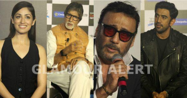 [PHOTOS] Big B, Yami Gautam, Jackie Shroff, Amit Sadh launch Sarkar 3 Trailer