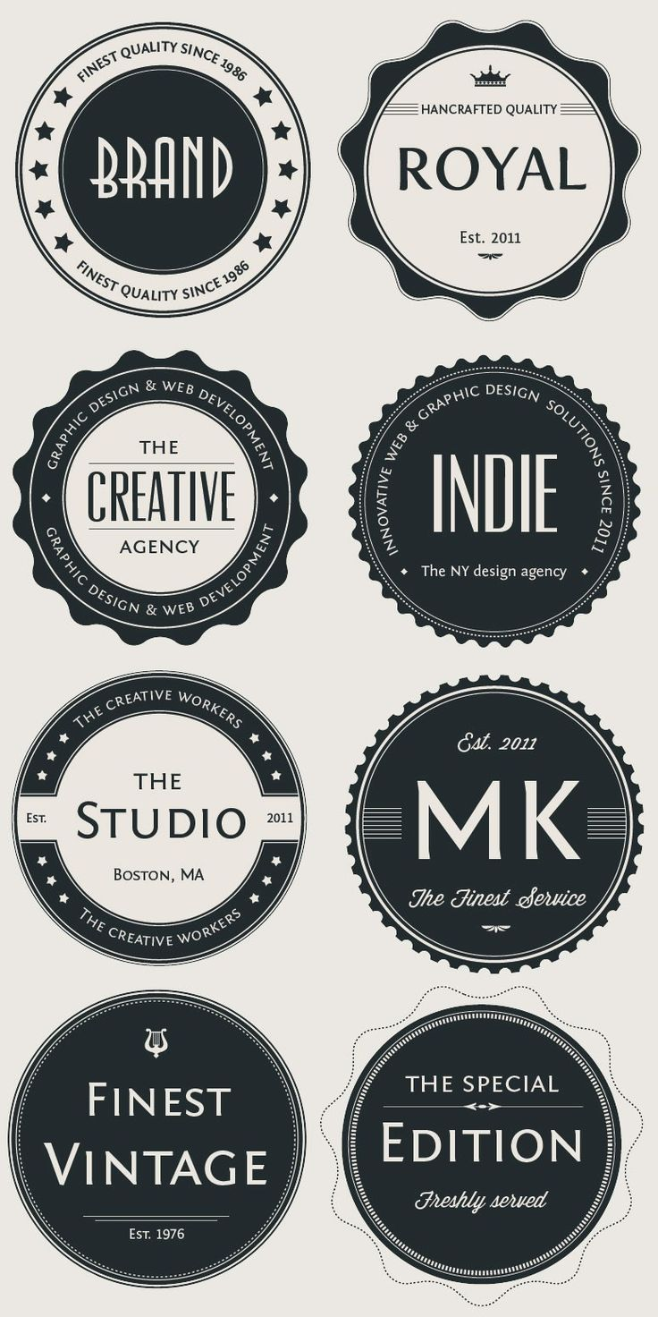 Vintage Logo Badges Set #badge #graphic #design