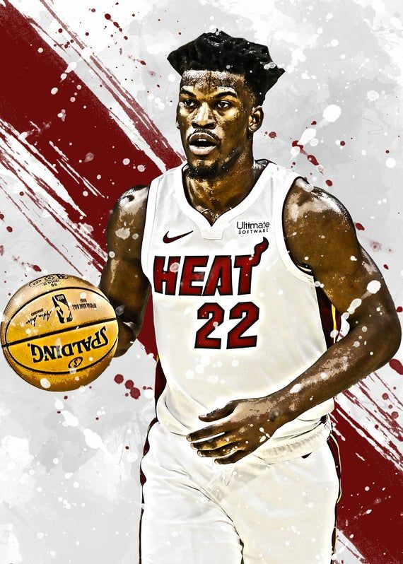 Jimmy Butler Miami Heat Poster Print Sports Art Basketball Etsy In 2020 Sports Art Miami Heat Poster Prints