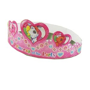 My Little Pony Party Tiara 6/pkg. Made of cardboard. Adjustable.
