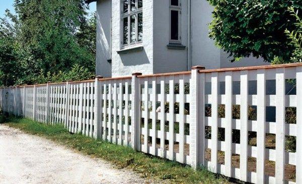 bois idée clôture blanche