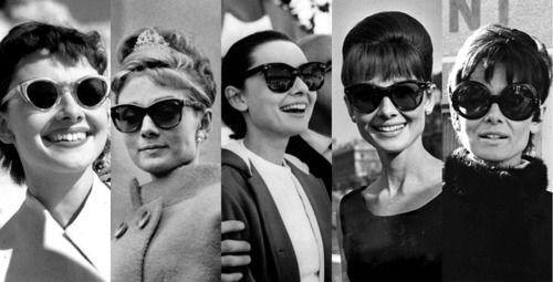 Audrey and her shades.
