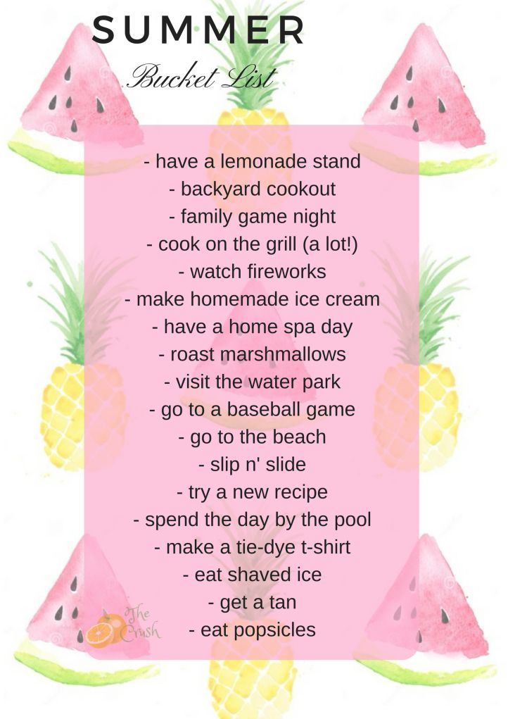 Summer Bucket List Summer Fun Activities Things To Do Outside The