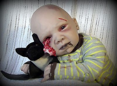 Creepy Zombie Baby Handmade Collectible Reborn Doll