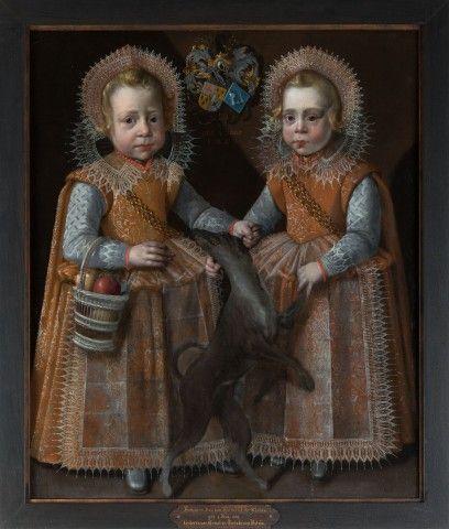 Pieter Feddes Harlingensis, portrait of twin brothers Homme en Juw van Harinxma thoe Slooten - 1609, private collection