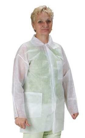 Condor White Lab Coat,M, Pack of 25, Adult Unisex, Size: Medium