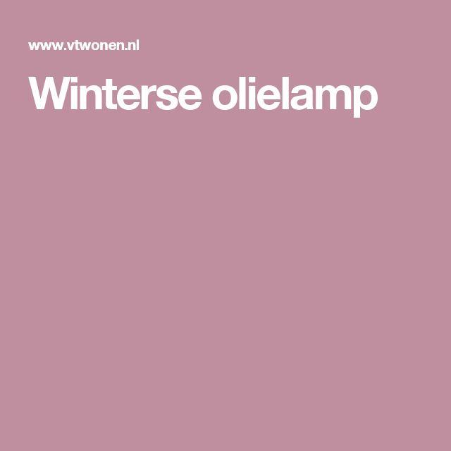 Winterse olielamp