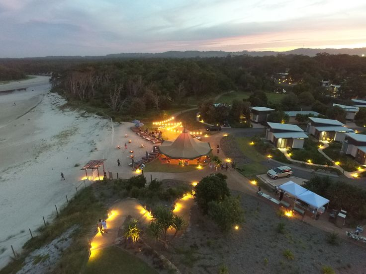 Elements of Byron - The Beach Club Tipi Events.  Drone Photography #elementsofbyron #thebeachclub #tipievents #byronbaycorporateevents