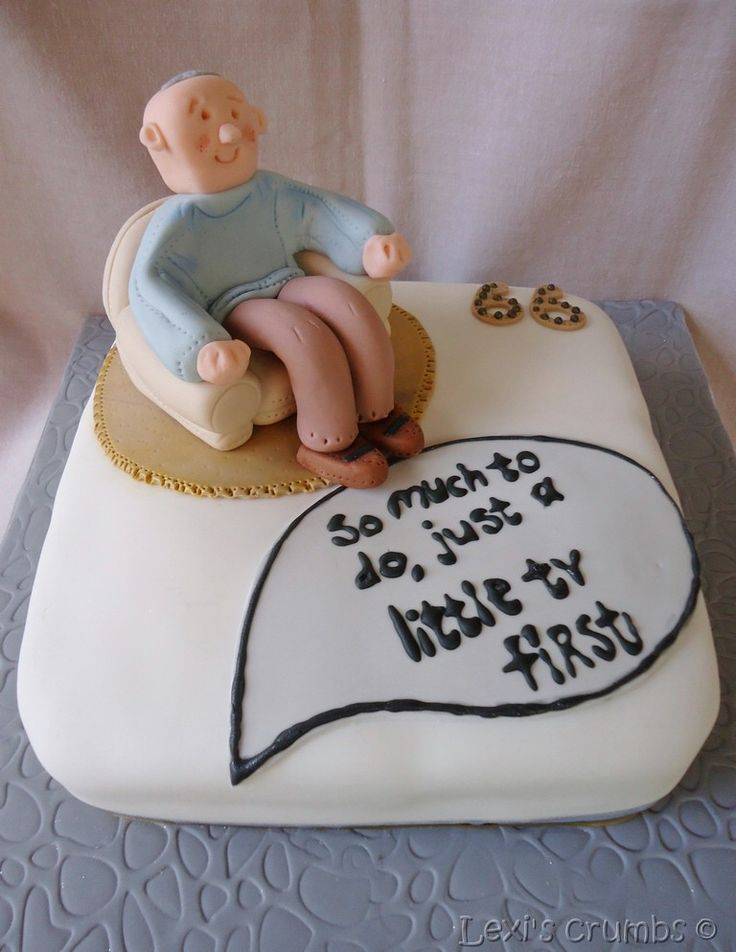 Relaxing Old Man Cake Www Lexiscrumbs Com 70th Birthday Cake Novelty Cakes Cake