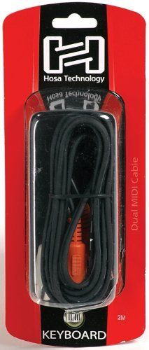 HOSA DUAL MIDI CABLE, 2m (6.6 ft.) by Hosa. $10.29. You depend on your cables. There are no excuses allowed when you're onstage or in the studio, that's why you need cables you can depend on. And you don't want to pay an arm and a leg for them. That's why you need Hosa cables. We're talking durability, performance, and value. You won't find another cable that offers better quality for the price. Whatever you're hooking together, you need amazing cables and snakes, and Hosa ha...