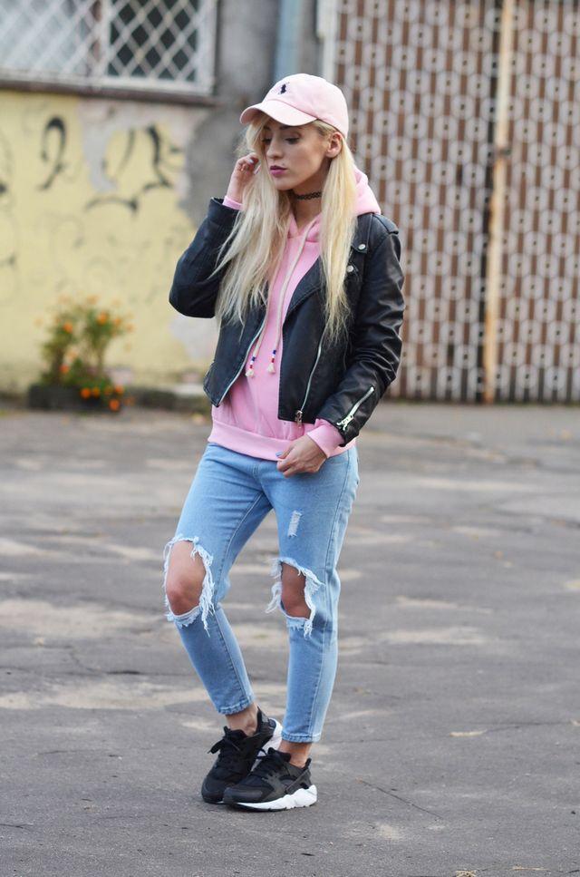 nike huarache with skinny jeans