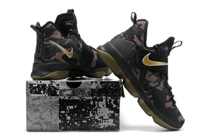 0a94b383d65 Cheapest Newest Lebrons Lebron 14 XIV Camo Gold Army