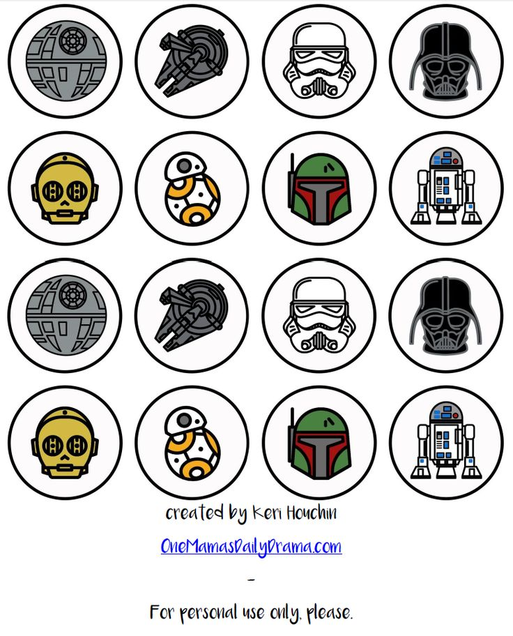 http://onemamasdailydrama.com/star-wars-cupcakes-printable-toppers/