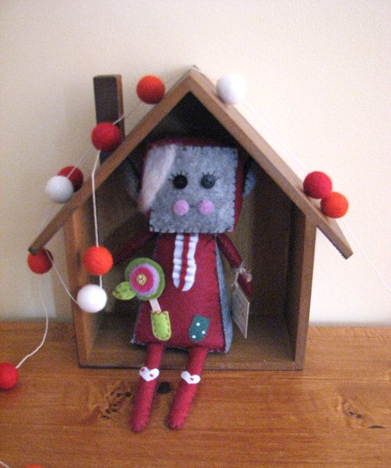 Elf Robot Easter  with little rabbit flower ina by Lillymagazinche