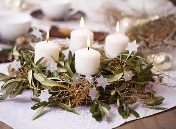 decoración de Navidad-corona de adviento