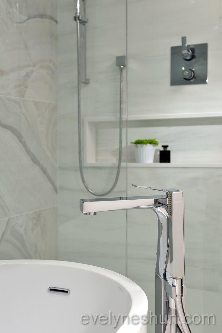 Maestro bath slide front page - Aquabrass Chicane Floormount Tub Filler In Evelyn Eshun S Bathroom Design Aquabrass Chicane