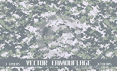 Vector digital camouflage background. Army and hunting.