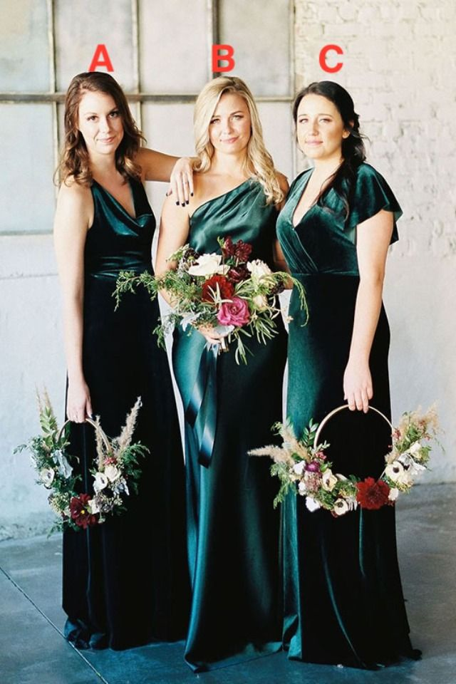 Dark Green Velvet Bridesmaid Dresses Long 2020 Velvet Bridesmaid Dresses Green Bridesmaid Dress Fall Winter Bridesmaid Dresses